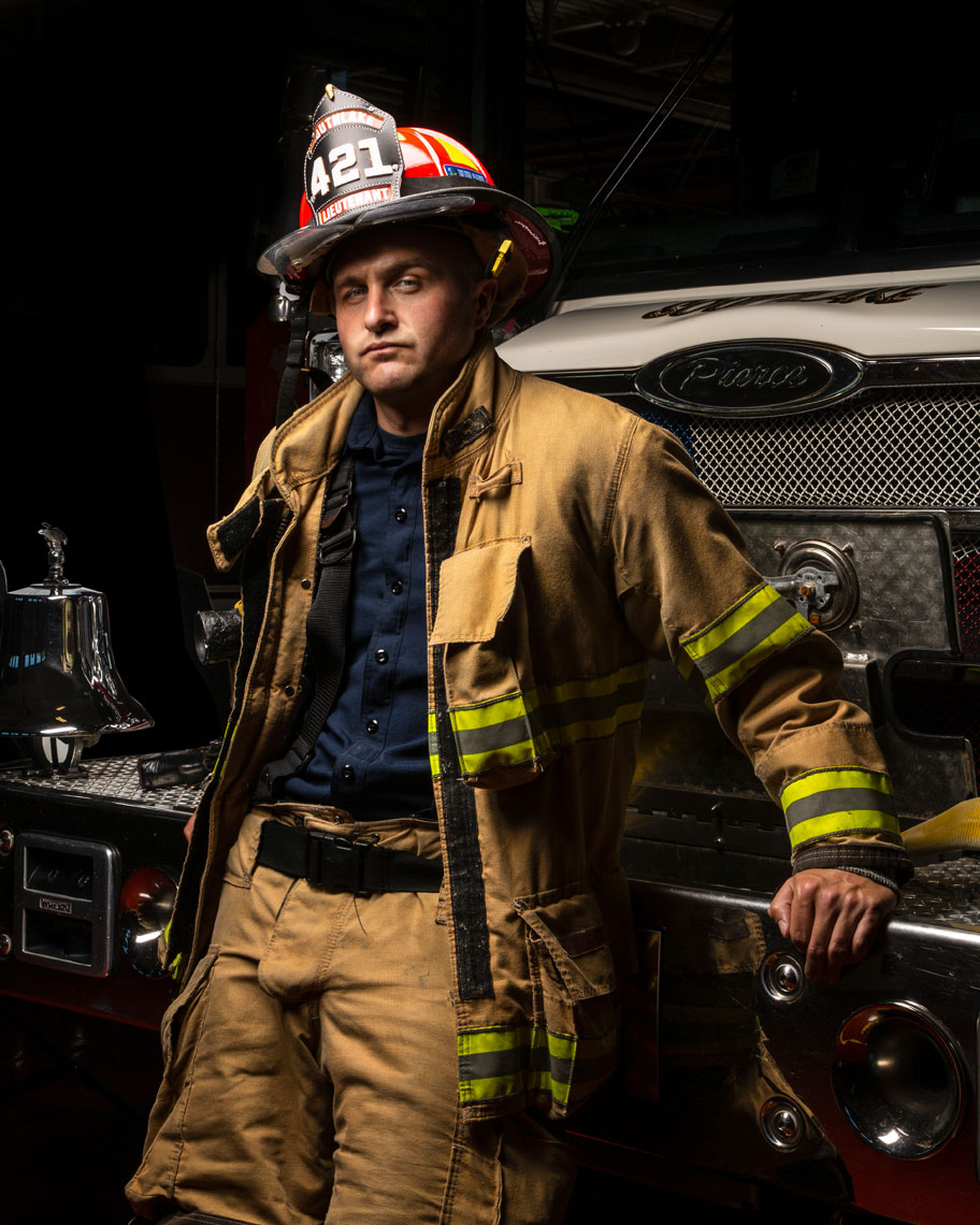 Firefighter photo | by Kate Voskova